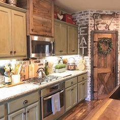 103 Modern Rustic Farmhouse Kitchen Cabinets Ideas