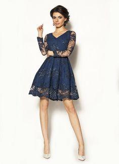 Elegancka sukienka koronkowa Model:KM-2310 [269.00zł] - Mini / Sukienki - Sklep internetowy - Sukienkimm.pl