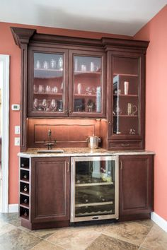 Cherry Pub Style Home Bar By Mullet Cabinet In Millersburg Ohio