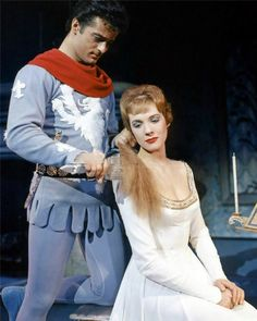 Julie Andrews and Robert Goulet, in the original Broadway production of Camelot.