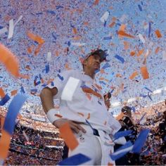 Peyton Manning celebrates. Denver Broncos - AFC Champs 2013
