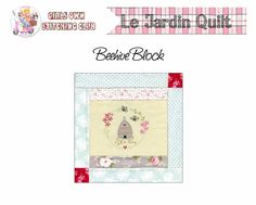 5.The Beehive Quilt Block Pattern- Le Jardin. - Red Brolly