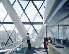 Swiss Re, London, UK. Foster+Partners. Interior.