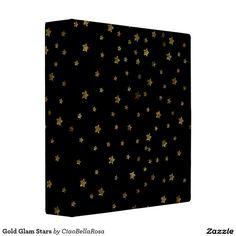 Gold Glam Stars 3 Ring Binders