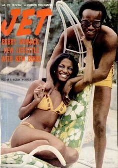 Bobby Womack with his wife Regina on the cover of Jet, January 1976 Jet Magazine, Black Magazine, Media Magazine, Ebony Magazine Cover, Magazine Covers, Bobby Womack, Soul Singers, Black Actors, Yesterday And Today
