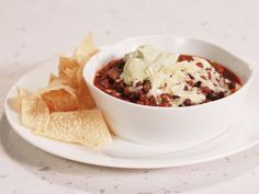 Black Bean and Beef Chili with Green Sour Cream : Recipes : Cooking Channel