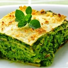 Spinach Lasagna Recipe | How to Make Spinach Lasagna | ItalianFoodsRecipes