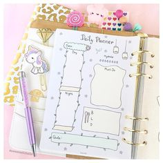 New release! Flower Garden Theme Daily Planner is up on Etsy  Link in bio  #prettyplanner