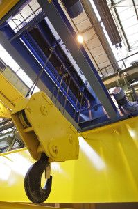 Double girder gantry crane with end carridge 40/16 t for Flowserve. GH Cranes  Components