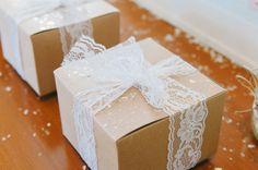 #lace, #ribbon, #party-favor  Photography: Ardita Kola Photography - arditakola.wordpress.com/  Read More: http://www.stylemepretty.com/living/2014/03/13/winter-wonderland-1st-birthday-party/
