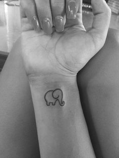 Elephant tattoo. If I wanted a tattoo, this would be the one that I would want.