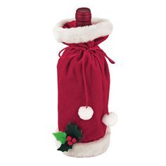 Santa Wine Sack  Celebrate the season in style. This Santa Gift Sack is perfect for giving your next bottle of wine to a friend!