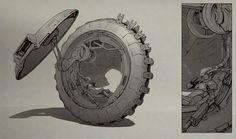 Wheel, Ekaterina Gudkina on ArtStation at https://www.artstation.com/artwork/wheel-e3d125e9-e5b5-41ab-91e5-bb28555d7a2e