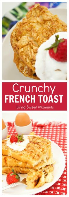 This Crunchy French Toast recipe is crusted with cinnamon cereal and sauteed with butter. The perfect quick breakfast or brunch idea for kids and adults. #ad #RealValueDelicious