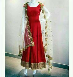 Cotton Anarkali Gown Suits Lehenga Party Wear Dresses Occasion Bridal Simple Indian Saris