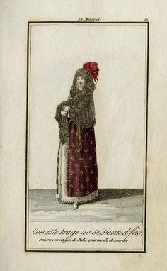 """""""Con este trage no se siente el frio / señora con citoyen de seda guarnecido de martas"""""""