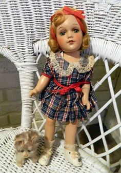 "13"" Arranbee R Debuteen Composition Doll 1930's All ORIGINAL"