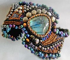 "This lady Sherry Serafini is known for her amazing ""bead embroidery"". Love it!"