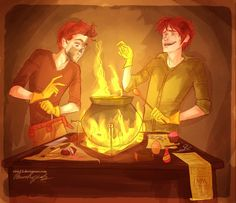 Experimentos Weasley Fred y George You MUST have seen your face by viria13.deviantart.com on @deviantART