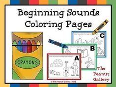 Have your students practice beginning sounds in a way they love...with crayons! This set features 26 coloring pages (one for each letter of the alphabet). Each one has four pictures. Students must select the pictures that begin with the letter on the page and color those pictures only. Pages have anywhere from 1 to 4 matches (it varies by page). ($)
