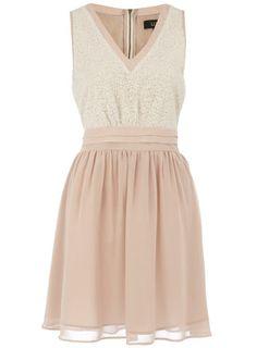 Ivory sequin bodice dress, Dorothy Perkins