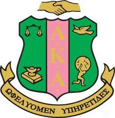 24682cff82 AKA sorority Logo   All things AKA (pink&green) in 2019   Alpha ...