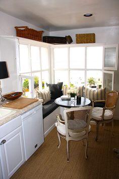 Tobi Tobin's Malibu House - corner dining spot in the kitchen