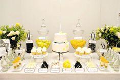 black, white, yellow