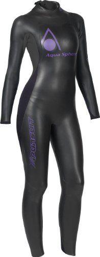 Aqua Sphere Women's Powered Pursuit Wet Suit, Black/Purple, Small