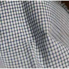 Tissu carreaux - blanc et bleu France Duval Stalla
