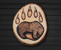Wood-Burning Patterns Bear Could also paint this on a stone!