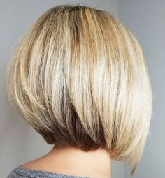 60 Layered Bob Styles: Modern Haircuts with Layers for Any Occasion - Pretty Bob with Stacked V-Cut Layers - Cute Bob Haircuts, Layered Bob Hairstyles, Modern Haircuts, Hairstyles Haircuts, Pixie Haircuts, Boy Haircuts, Ponytail Hairstyles, Layered Haircuts Shoulder Length, Beach Hairstyles