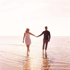 Dreamy Beach Engagement Shoot - Bridal Musings Wedding Blog love to see some beach pics