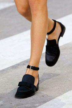 chanel black loafer