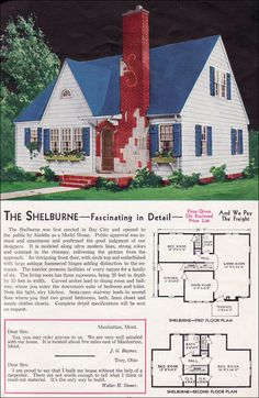 The Shelburne  1940 Aladdin Kit Homes.. it used to be you could pick out a home in a magazine!