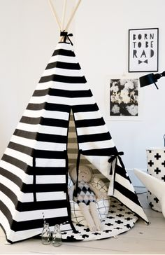 41bb1deffd7 Wildfire Teepees - Stripe Print Teepee with Black Trim