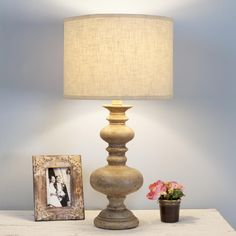 Vintage Spindle Table Lamp....inspiration for the 2 that I picked up from a Goodwill.