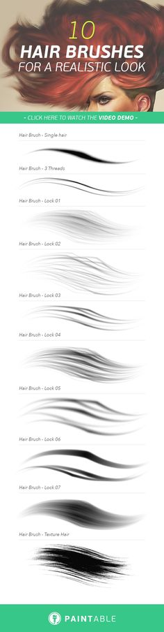 10 Brushes to Paint Striking, Realistic Hair in Minutes (With Video Tutorial)