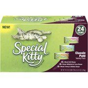 Special Kitty Premium Classic Pate Variety Pack Cat Food, 24ct(Pack Of 4) *** Click image to review more details. (This is an affiliate link and I receive a commission for the sales) #CatCare