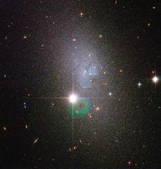 A Magellanic Spiral galaxy, UGC 5692 is also known as a dwarf irregular galaxy. Credit: NASA/ESA Hubble Telescope.