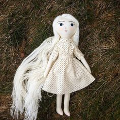 Selkie update! I have enough yarn for just two more Selkies like this one. After that I will try to source something similar. I'm finishing one Selkie today and will list her at 5pm, then the last one sometime next week. Also coming up next week, more of the ever popular redheads! #tinyhandmadedolls