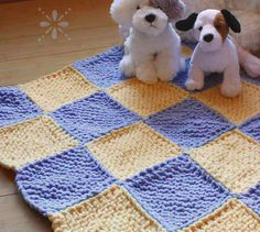 The Easy Blocks Baby Blanket is another Free beginner knitting pattern from Love of Knitting.