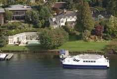 Paul Allen, Mercer Island Estate, Seattle WA. Floating helipad.