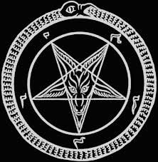 This Is ouroborus baphomet, this symbol represents my religious views, which are very very very anti religion, very anti god, this defines my religious values and beliefs.