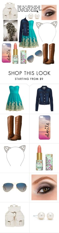 """Normal is Overated"" by abbybeaumont ❤ liked on Polyvore featuring Vero Moda, Frye, tarte, Ray-Ban, Avon and Tiffany & Co."