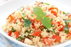 Raw Couscous & Tomato Salad: Vegetarian Recipes: Healthy Eating on the Hallelujah Diet