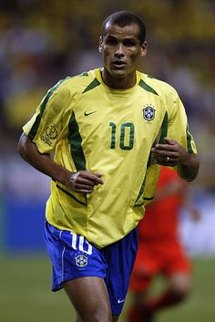 Rivaldo of Brazil in action during the FIFA World Cup Finals 2002 Second Round match between Brazil and Belgium played at the Kobe Wing Stadium in... Rivaldo Barcelona, Fc Barcelona, Soccer Pictures, Soccer Pics, World Cup Final, National Football Teams, Fifa World Cup, Football Players, Ronaldo