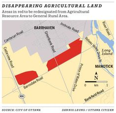 Disappearing agricultural land