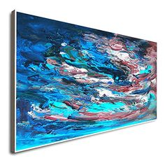 Amazon.com: Large Abstract Painting Large Canvas Art Winter Paintings For Wall Colorful Art Wall Decor Hand Painted Acrylic Painting Canvas Art Original Large Abstract Painting: Handmade