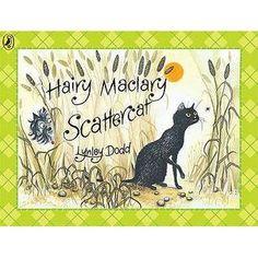 Hairy Maclary Scattercat by Lynley Dodd ISBN 0141382570 (board book).